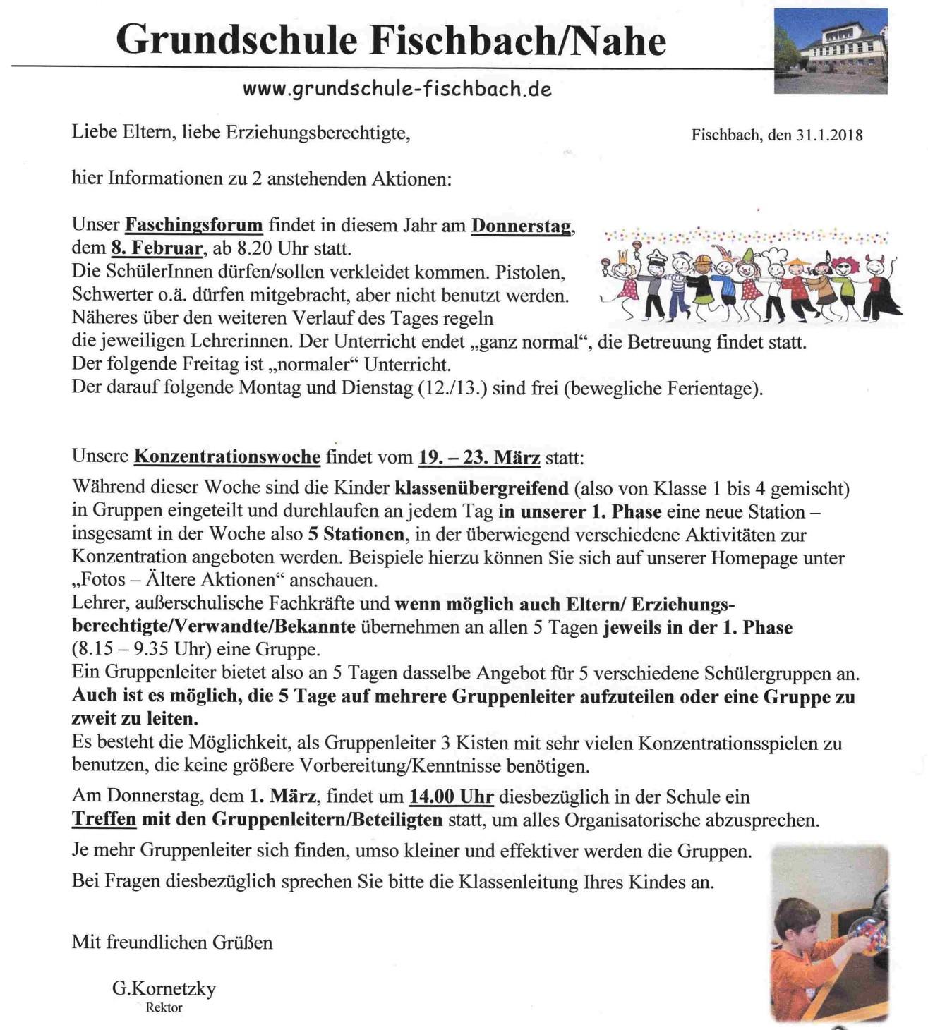 E Brief 2 18 Grundschule Fischbach An Der Nahe